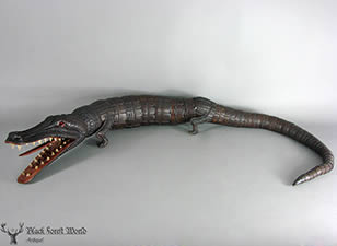 black forest carved Alligator