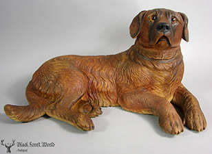 Black forest carved st. Bernard