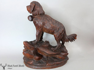 black forest carved saint bernard