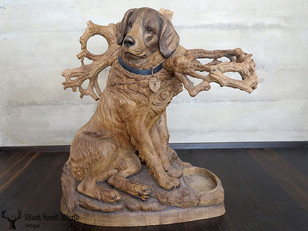 Awesome  Carved Wooden st bernard