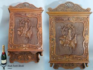 Black forest carved Cabinet