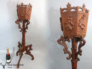 Black forest carved Flower  stand