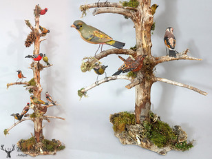 Lovely piece with handcarved Birds