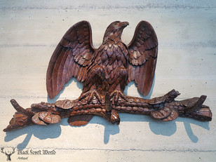 Awesome Black forest carved  Eagle