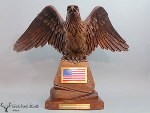 black forest carved eagle unique