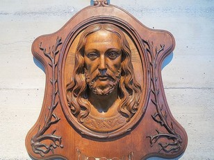 black forest plaque jesus