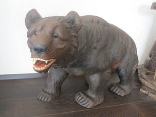 Black Forest Carved wood Bear XL