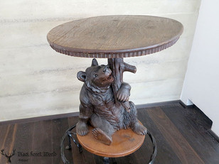 handcarved black forest bear table