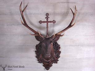 Lifesize deluxe carved Stag Head